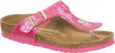 Birkenstock Zehensteg Sandale Gizeh BF shiny snake pink - Gr. 30 - 34 - 1003325k