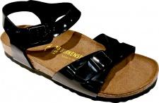 BIRKENSTOCK Sandale Fersenriemen Rio schwarz lack BF Gr. 35 - 43 031353