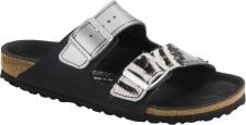 Birkenstock Pantolette Arizona Patchwork Zebra black Naturleder Gr. 35 - 43 1001457