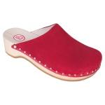 BERKEMANN Clog Velours Toeffler rot Leder Gr. 2, 5 - 13 00404-250