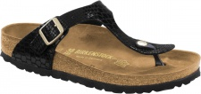 Birkenstock Zehensteg Sandale Gizeh BF shiny snake black - Gr. 35 - 43 - 1004274