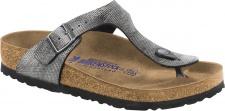 Birkenstock Zehensteg Sandale Gizeh BF washed out jeans grey - Gr. 35 - 46 - 1005359
