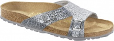 Birkenstock Shakina pebbles metallic silver Nubukleder Gr. 35 - 43 - 029403