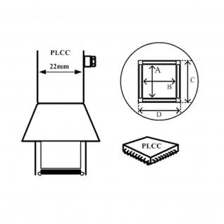 AOYUE [1135] Heißluftdüse PLCC 17.5x17.5mm Heißluftstation / Lötstati