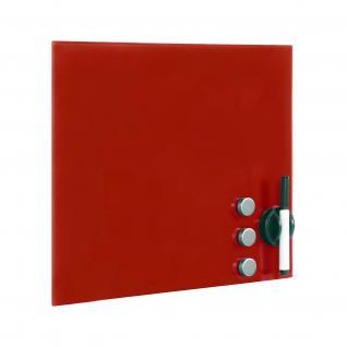 Glasboard Rot Magnettafel Magnetwand Whiteboard Tafel 45x45cm