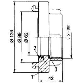 """B Storz Kupplung Innengewinde 3.5"""" 75mm Schlauchkupplung Festkupplung"""