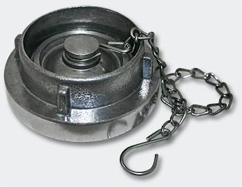 Storz Kupplung B Blindkupplung mit Kette 3Zoll 75mm, Alu