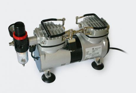 Airbrush Kompressor AS19 2 Zylinder Kolben Wasserabscheider