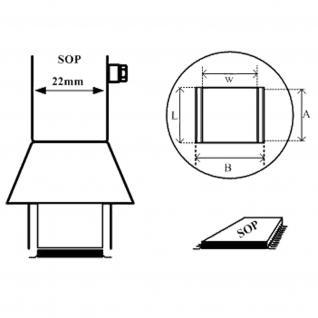 AOYUE [1133] Heißluftdüse paralell SOP 7.5x15mm Heißluftstation / Löt