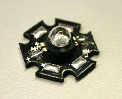 3W Hexagon Power-LED, blau, 16lm, 120°, high-power