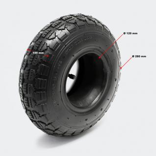 2x Reifen für Aufsitzmäher 11x4.10/3.50-5 4pr mit Schlauch Winkelvent - Vorschau 2