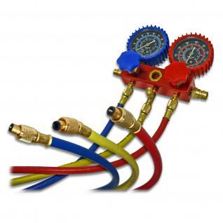 R134a Kältemanometer V2 Montagehilfe 180cm Schlauchlänge Klimaanlage