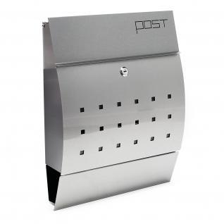 Moderner Design Briefkasten V7 Edelstahl Wandbriefbox gebürstet