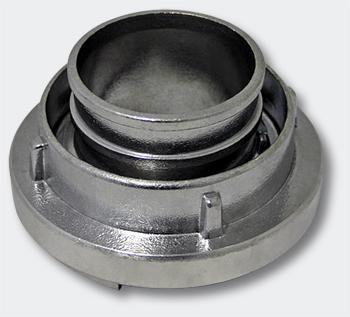 C Storz Kupplung mit kurzem Stutzen 2 Zoll 52mm, Schlauchkupplung, Alu