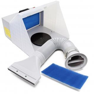 Airbrush Zubehör Absauganlage 4m³/min Komplett Set Farbnebel Außenluft