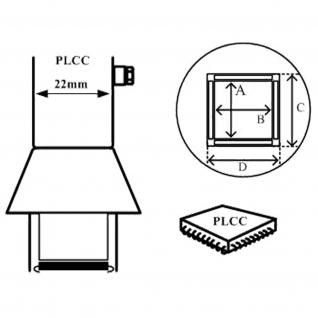 AOYUE [1137] Heißluftdüse PLCC 25x25mm Heißluftstation / Lötstation