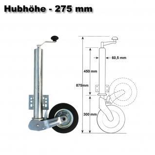 453kg Automatisches Stützrad Anhänger Bugrad Automatik klappbar PKW