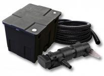 1-Kammer FilterSet für 12000l mit 18W UVC 6er-Teichklärer 5m Schlauch