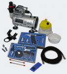 Profi Airbrush Kompressor Set mit 2 Airbrushpistolen AS18-2