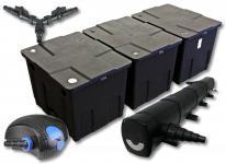 SunSun Filter Set 90000l Teich mit 72W Teichklärer und 100W ECO Pumpe