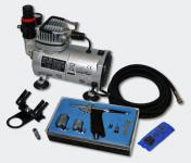 Einsteiger Airbrush Kompressor Set mit 1 Airbrushpistole AS18-2