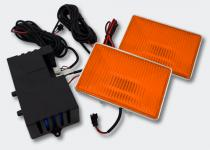 Type-R Square Strobo-Light orange Stroboskop Blitzer Frontblitzer