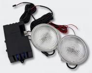 Type-R Round Strobo-Light transparent Stroboskop Blitzer Frontblitzer