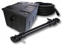 1-Kammer FilterSet für 60000l mit 72W UVC 6er-Teichklärer 5m Schlauch