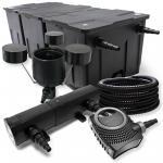 FilterSet Bio Teichfilter 90000l 36W UVC Klärer Pumpe Schlauch Skimmer