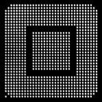 AOYUE XBOX360GPU Reballing BGA Schablone 0.60 mm