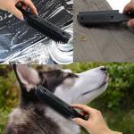 Sweepa Squeeper Gummi Multibürste aus 100% Naturkauschuk 26cm Schwarz