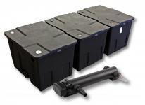 3-Kammer FilterSet für 90000l Teich mit 24W UVC 3er-Serie Teichklärer