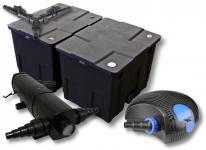 SunSun Filter Set 60000l Teich mit 24W Teichklärer und 100W ECO Pumpe