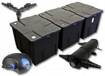 SunSun Filter Set 90000l Teich mit 24W Teichklärer und 100W ECO Pumpe