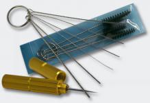 Airbrush Zubehör Reinigungsbürsten und Nadel Set