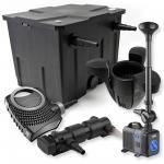 1-Kammer FilterSet 12000l 24W UV Klärer Pumpe Springbrunnen Skimmer
