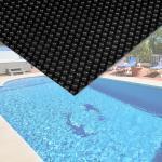 Pool Solarfolie 4x6m schwarz Poolabdeckung Solarplane Poolheizung