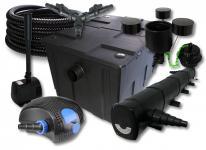 SunSun Filter 60000l 72W UVC 100W Pumpe Schlauch Skimmer Springbrunnen