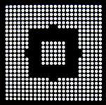AOYUE WII CPU Reballing BGA Schablone 0.76 mm