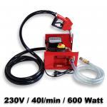Bio Dieselpumpe Heizölpumpe selbstansaugend 230V/600W 40l/min Pistole