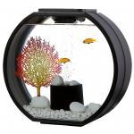 AA Aquarium Deco O mini 10l schwarz Komplettset HPLED Mondlicht Touch