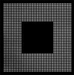 AOYUE PS3 CPU Reballing BGA Schablone 0.60 mm
