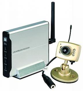 Funk-Überwachungs set color Farb kamera+ Empfänger - Vorschau 1