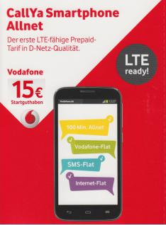 Vodafone CallYa Prepaid SIM- Karte SMART PHONE- FUN