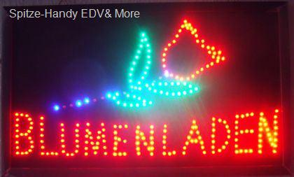 Blumen laden LED Leucht reklame Display Werbung