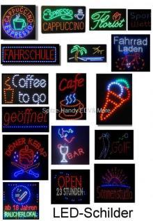 Glüh wein LED Leucht reklame Anzeige tafel 55x33 cm - Vorschau 3