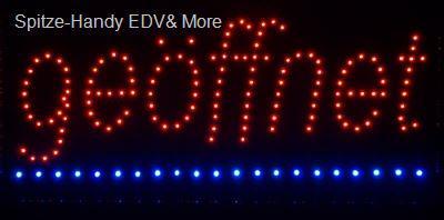 Geöffnet LED Leucht reklame Anzeige tafel Display