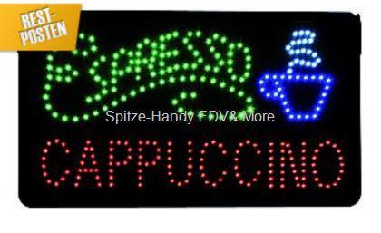 Espresso LED Leucht reklame Display Werbung tafel - Vorschau 1