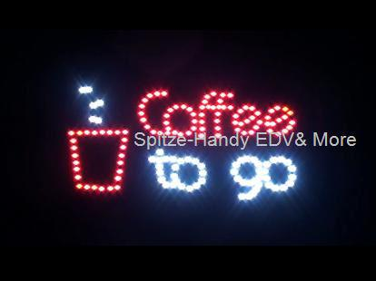 Coffee to go LED Leucht reklame Display Werbung