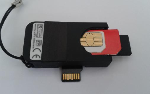 USB- SIM- Karten leser mit 1GB Flash und microSD- Reader - Vorschau 2